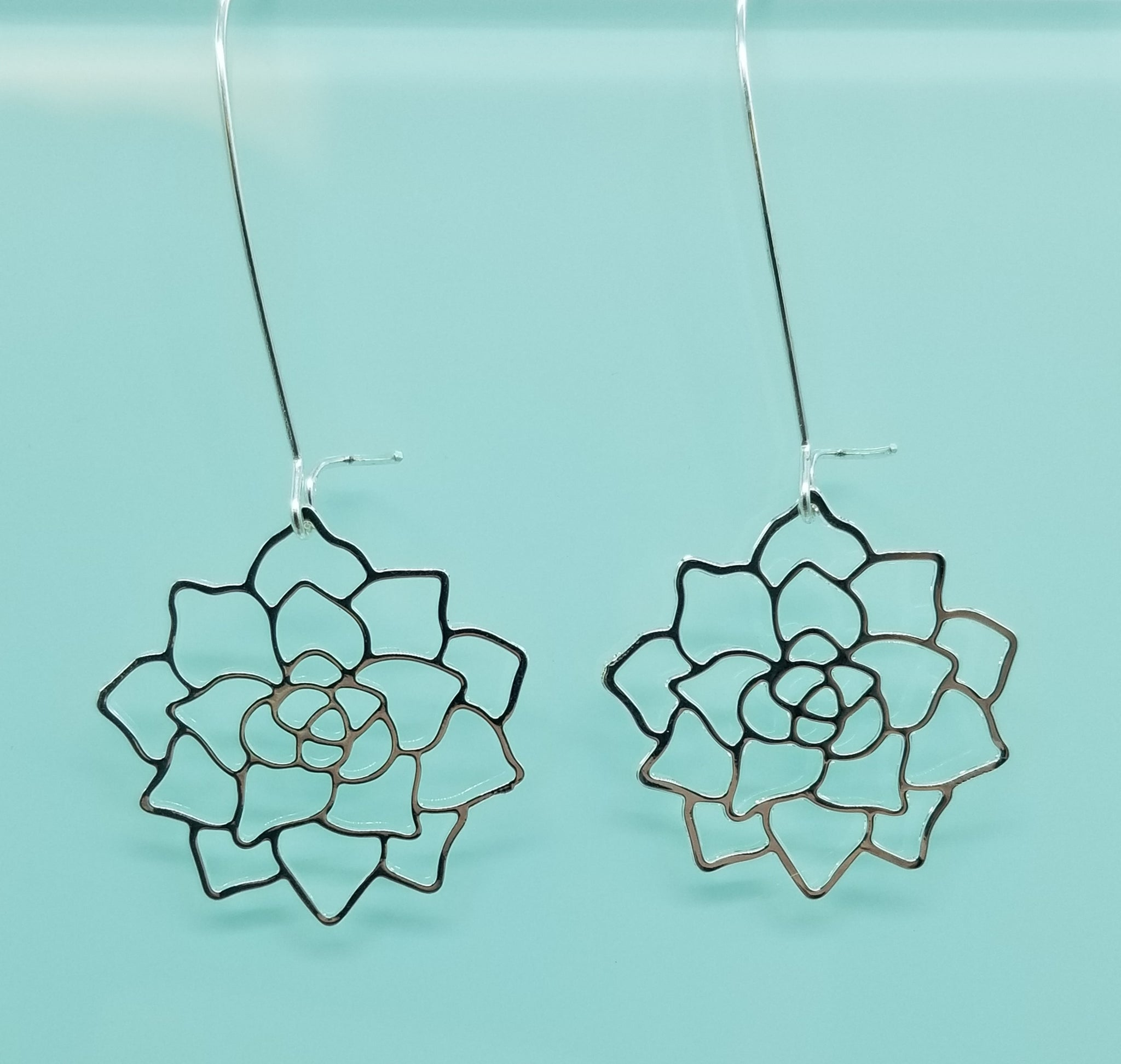 Succulent Earrings | Silver