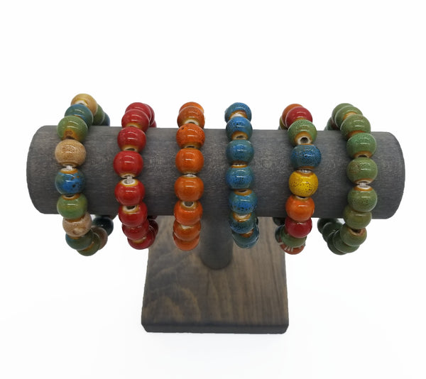 Small Circle Clay Bracelets