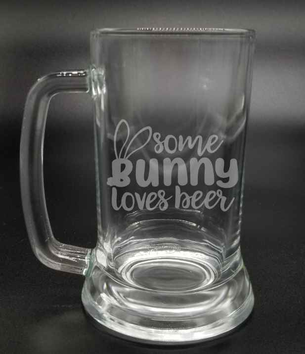 Some Bunny Loves Beer - Etched Glass