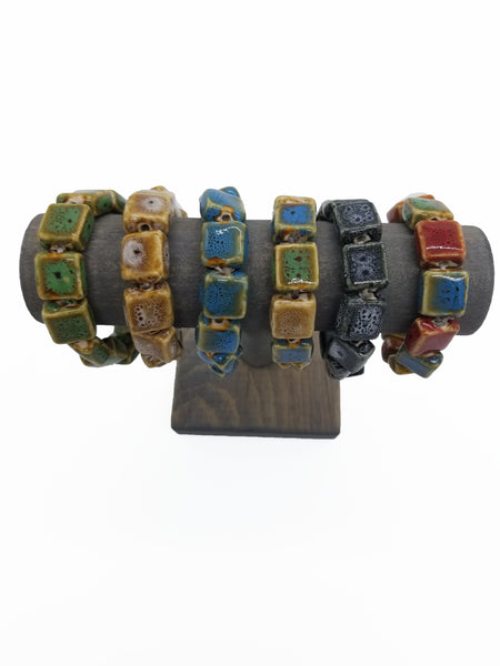 Flat Square Clay Bracelets