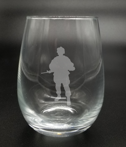 Standing Soldier - Etched Glass