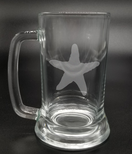 Starfish - Etched Glass