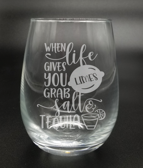 When Life Gives You Limes - Etched Glass