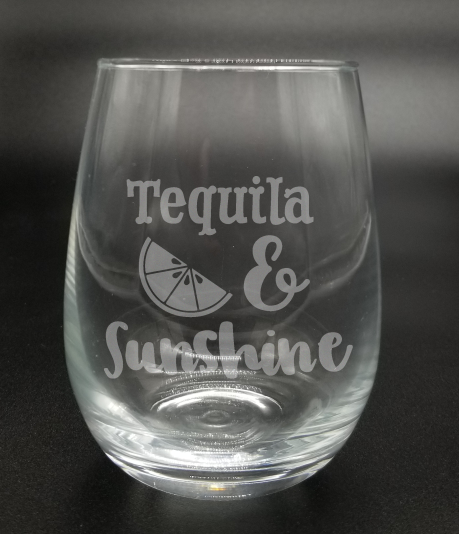 Tequila Lime & Sunshine - Etched Glass