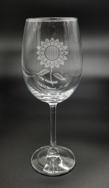Sunflower - Etched Glass