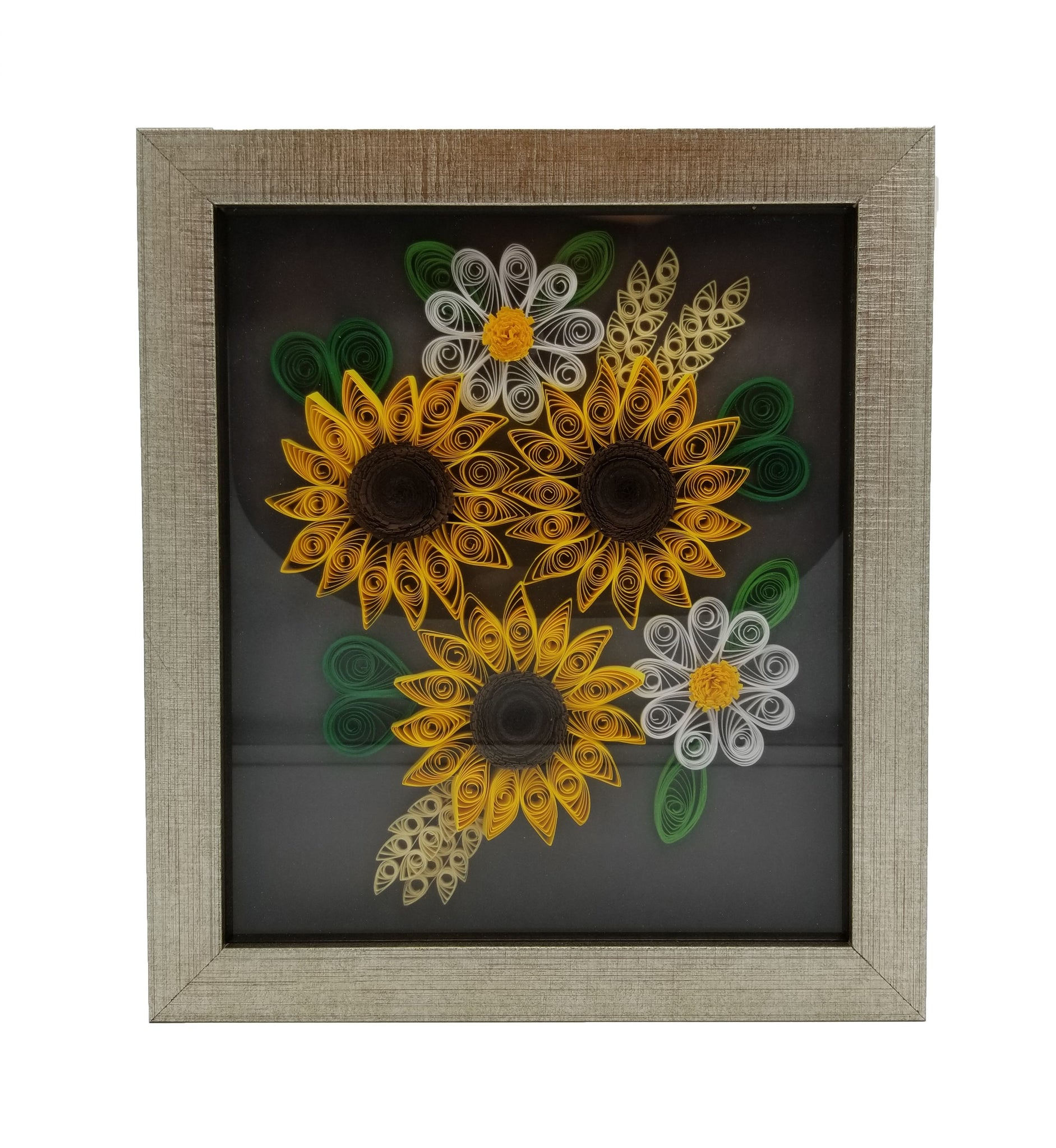 Quilled Sunflower with Gold Frame