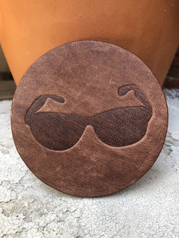 Sunglasses Assorted Leather Coaster