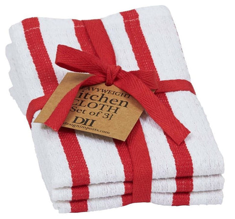 Tango Stripe Heavyweight Dishcloth - Set of 3