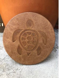 Turtle Assorted Leather Coaster
