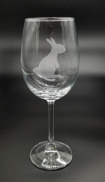 Upright Bunny - Etched Glass