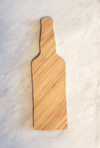 Whiskey Bottle (Shaped) - Bamboo Cutting Board