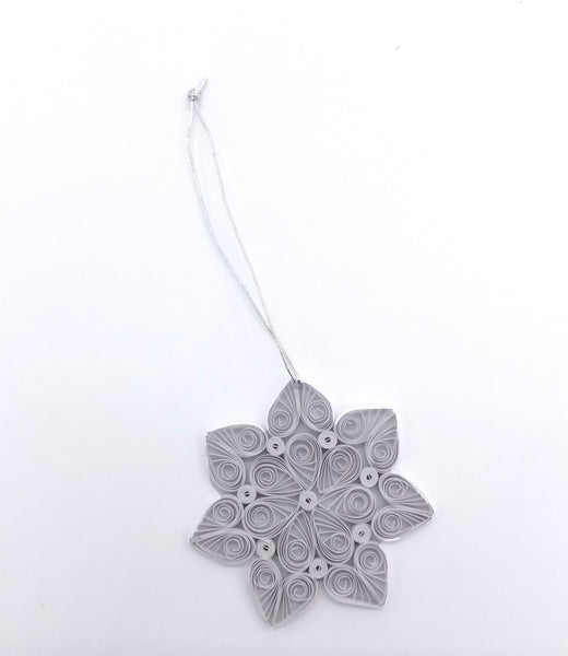 Quilled Snowflake Ornament (Red or White)