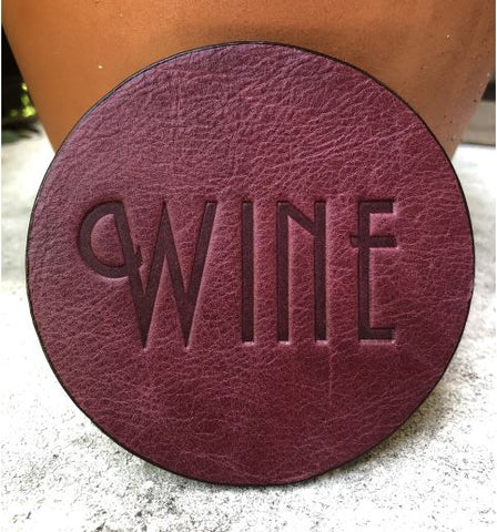 Wine Assorted Leather Coaster