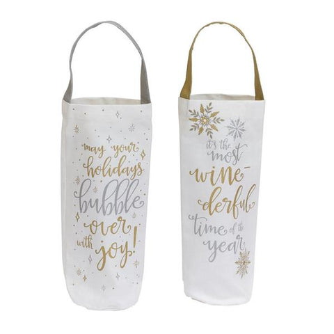 Winter Sparkle Bottle Totes