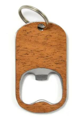 Wood Bottle Opener Keychain | Cherry