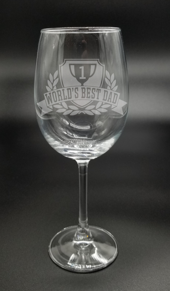 #1 World's Best Dad | Etched Glass