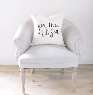 "18"" You, Me, And The Sea Pillow"