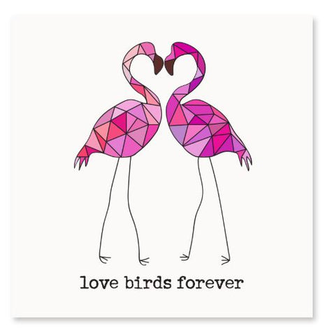 Love Birds Forever Greeting Card