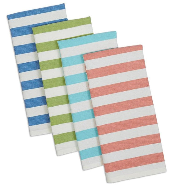 Cabana Stripe Heavyweight Dishtowel - Set of 4