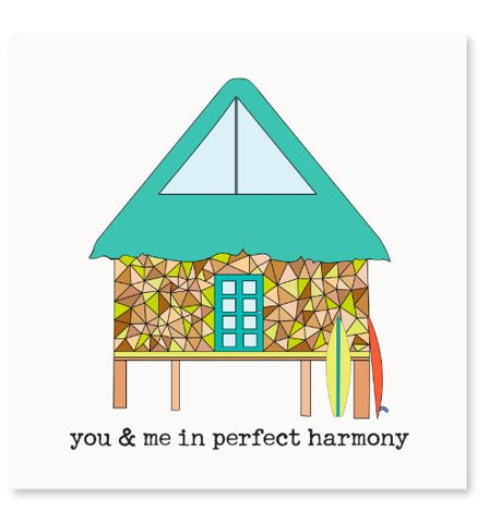 You & Me In Perfect Harmony Greeting Card