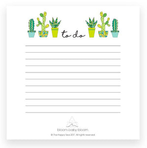 Succulent To Do Notepad