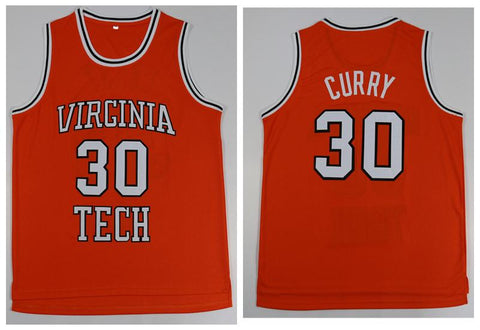 Dell Curry Virginia Tech Hokies NCAA Jersey