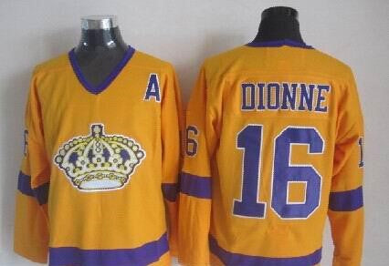 Marcel Dionne Los Angeles Kings NHL CCM Vintage Jersey Yellow
