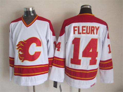 Theo Fleury Calgary Flames CCM Vintage Jersey White