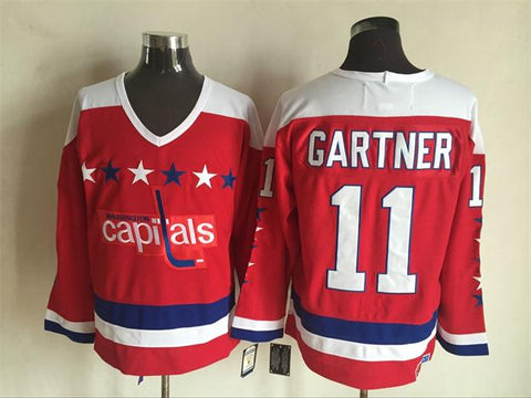 Mike Gartner Washington Capitals NHL CCM Vintage Jersey Red