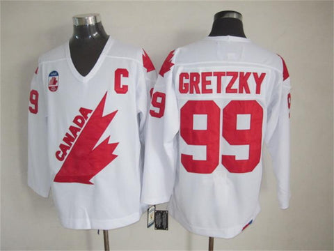 Wayne Gretzky Team Canada International IIHF Olympic Jersey White
