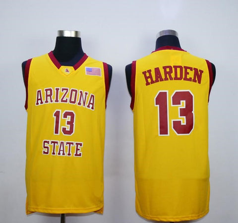James Harden Arizona State Sun Devils NCAA Adidas Jersey Yellow