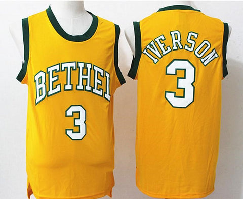 Allen Iverson Bethel High School Adidas Yellow