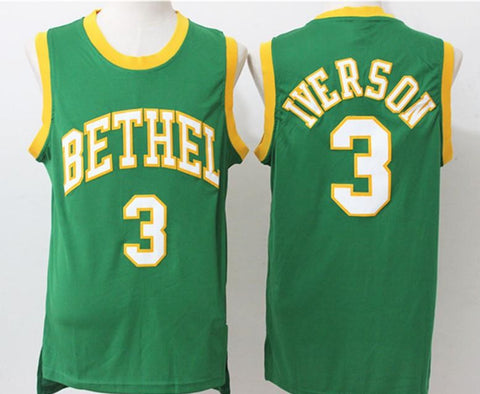 Allen Iverson Bethel High School Adidas Green