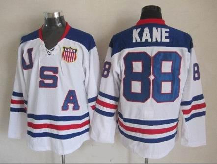 Patrick Kane Team USA International IIHF Olympic Jersey White