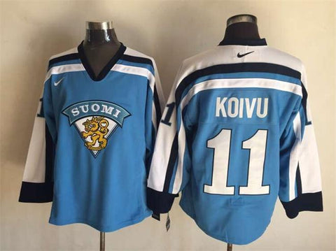 Saku Koivu Team Finland Suomi International IIHF Olympic Jersey