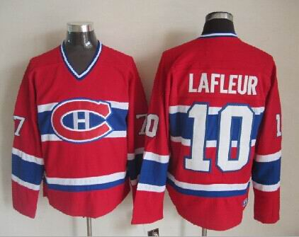 Guy Lafleur Montreal Canadiens NHL CCM Vintage Jersey Red