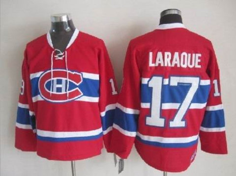 Georges Laraque Montreal Canadiens NHL CCM Vintage Jersey Red
