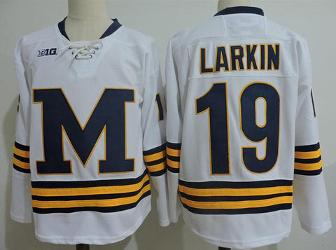 Dylan Larkin Michigan Wolverines NCAA Jersey White
