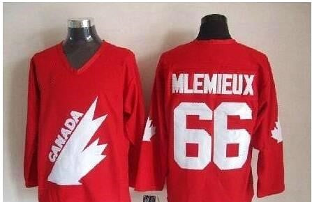 Mario Lemieux Team Canada International IIHF Olympic Jersey Red 2