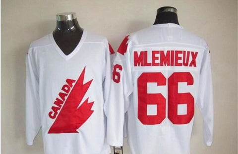 Mario Lemieux Team Canada International IIHF Olympic Jersey White