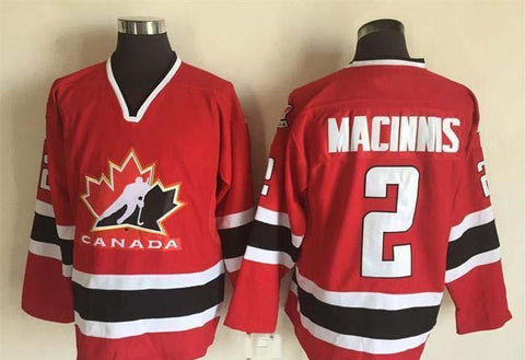 Al MacInnis Team Canada International IIHF Olympic Jersey Red