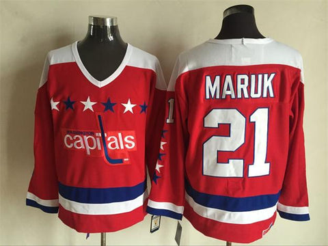 Dennis Maruk Washington Capitals NHL CCM Vintage Jersey Red