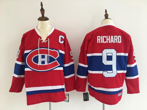 Maurice Richard Montreal Canadiens NHL CCM Vintage Jersey Red