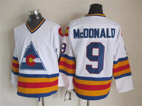 Lanny McDonald Colorado Rockies NHL CCM Vintage Jersey White