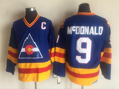 Lanny McDonald Colorado Rockies NHL CCM Vintage Jersey Blue
