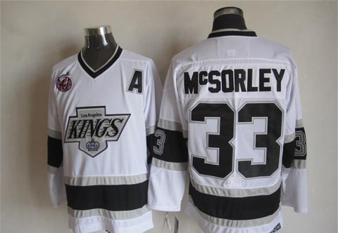 Marty McSorley Los Angeles Kings NHL CCM Vintage Jersey White