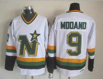 Mike Modano Minnesota North Stars NHL CCM Vintage Jersey White