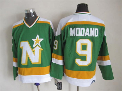 Mike Modano Minnesota North Stars NHL CCM Vintage Jersey Green