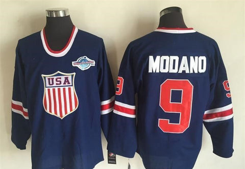 Mike Modano Team USA International IIHF Olympic Jersey Blue