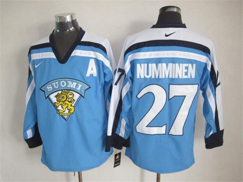 Teppo Numminen Team Finland Suomi International IIHF Olympic Jersey